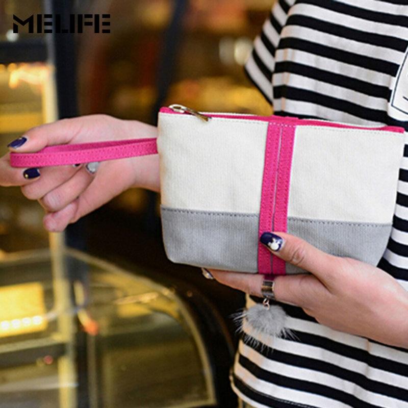 MELIFE Fashion Women Handbag Canvas Cosmetic Organizer Storage Travel Makeup Pouchs Professional Beauty Toiletry Bag For Girls