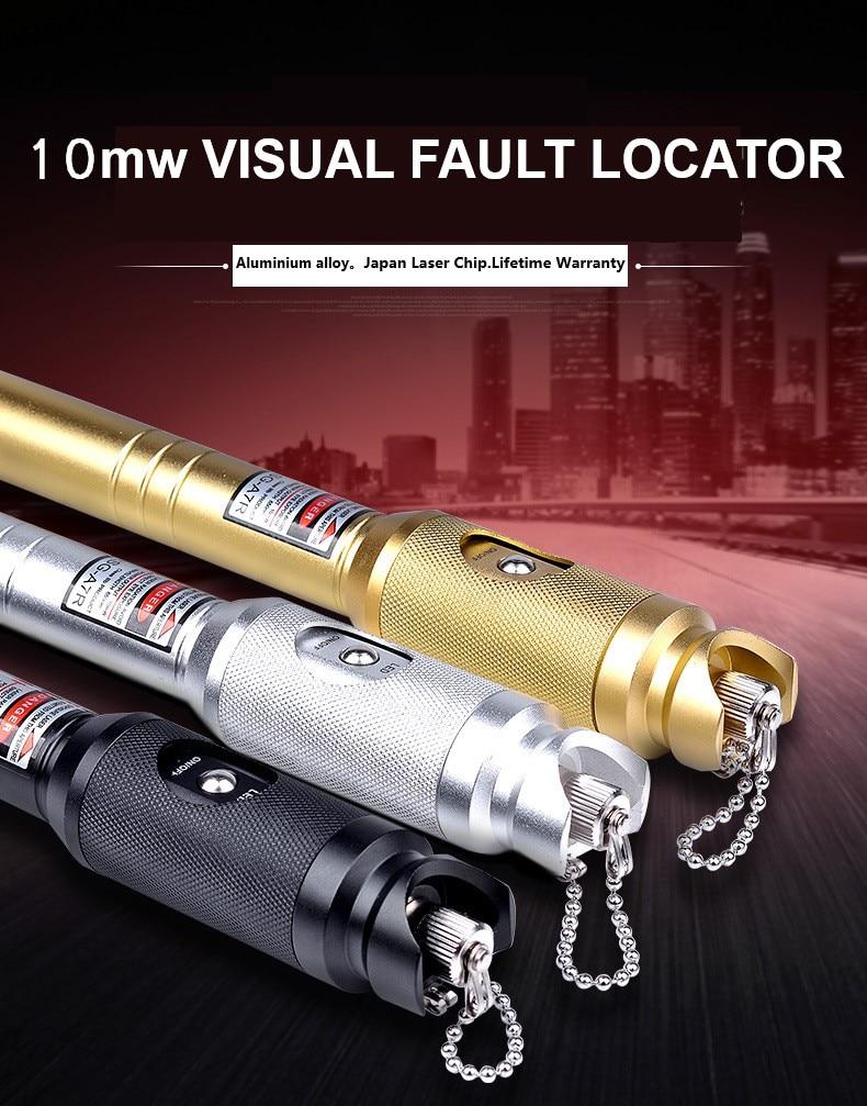 Localizador de fuente láser de fibra óptica VFL QIALAN 650nm 10-12KM Localizador Visual de fallos 10mw probador de cable de fibra óptica Envío Gratis, Red, 10mW, minilocalizador de mano, probador de cables de fibra óptica VFL, comprobador de rotura de fibra óptica, 12Km