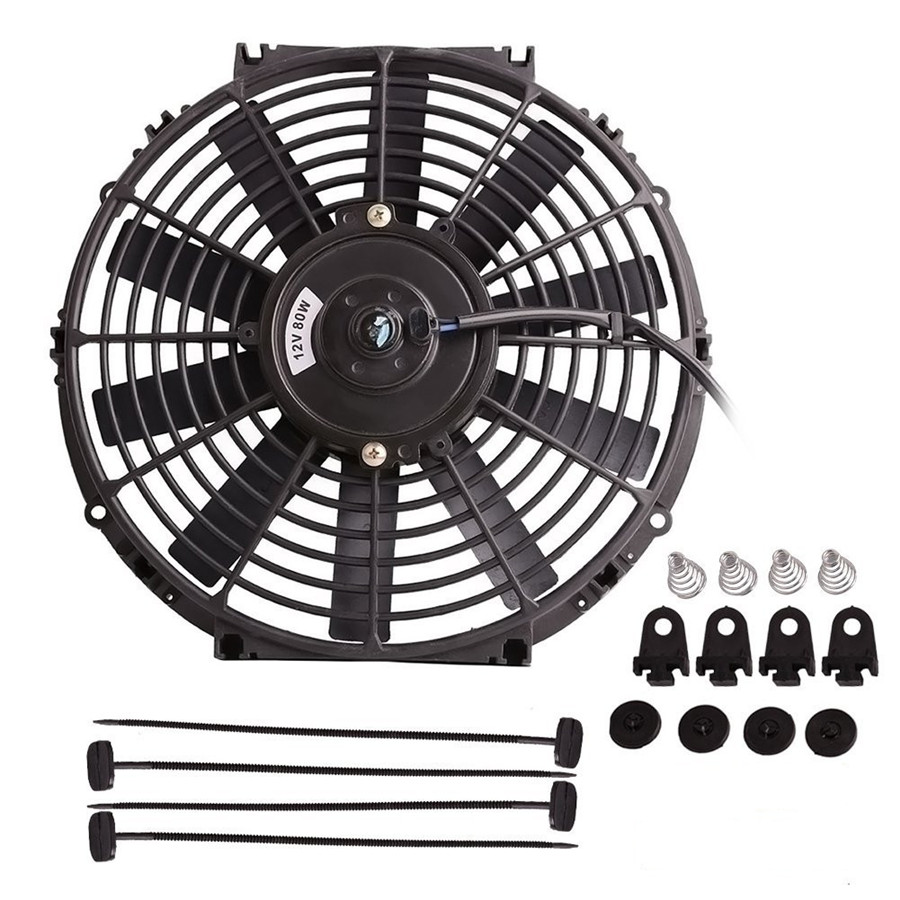 12 U0026quot  High Performance Electric Plastic Car Cooling Fan