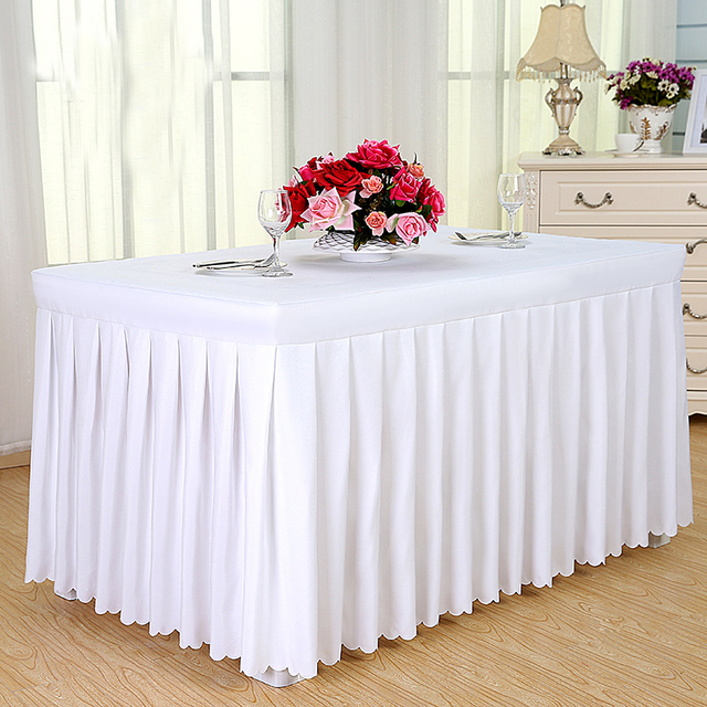New luxury customized wedding banquet hotel table cloth meeting sign new luxury customized wedding banquet hotel table cloth meeting sign in a buffet solid table skirt watchthetrailerfo