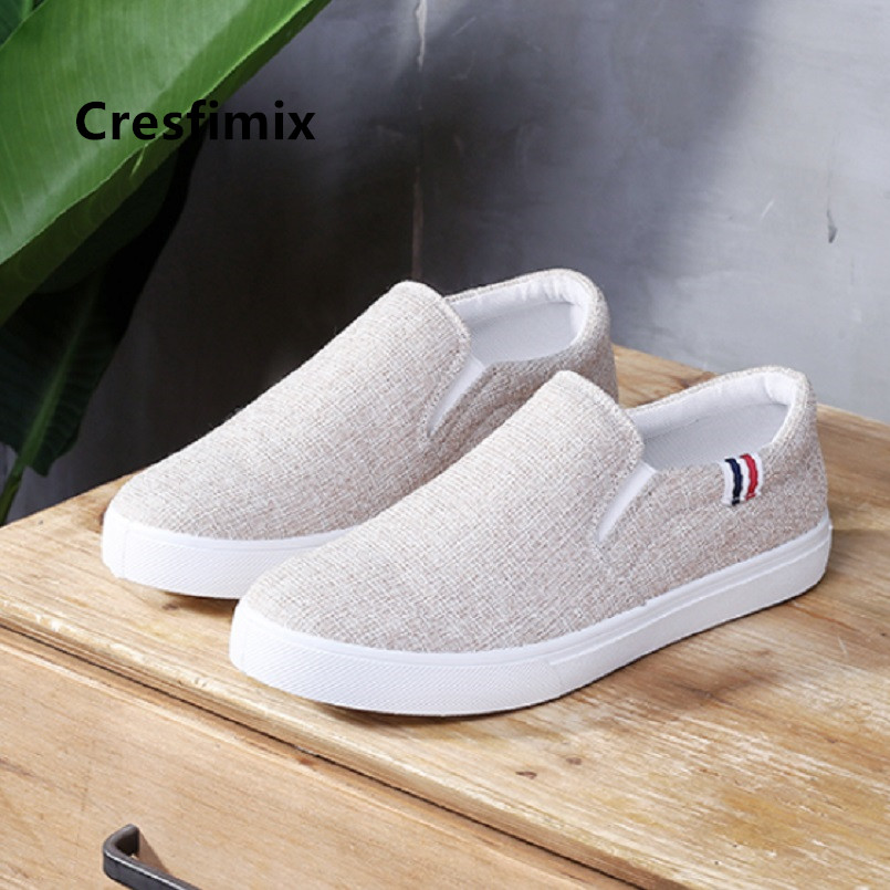 Cresfimix Zapatos Hombre Men Cool Comfortable Spring Slip On Shoes Man Casual Beige Street Shoes Male High Quality Shoes C5135