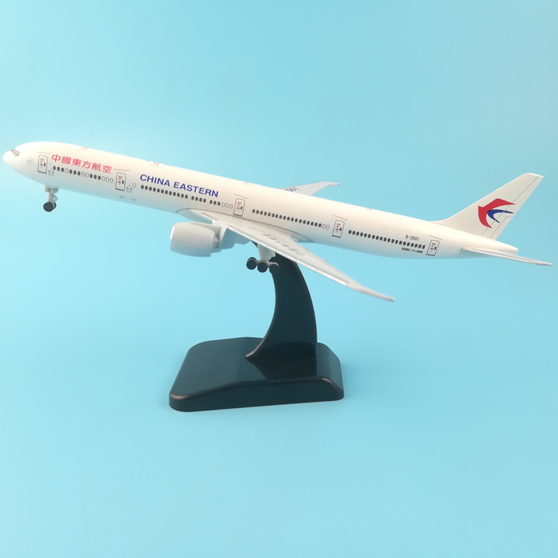 AIR PASSENGER PLANE B-2001 20CM BOEING 777 CHINA EASTERN METAL ALLOY MODEL PLANE AIRCRAFT MODEL TOY WHEELS AIRPLANE BIRTHDAY 1 200 boeing livery 777 b777 31cm metal alloy model plane aircraft model toys model w stand new year birthday collections gifts
