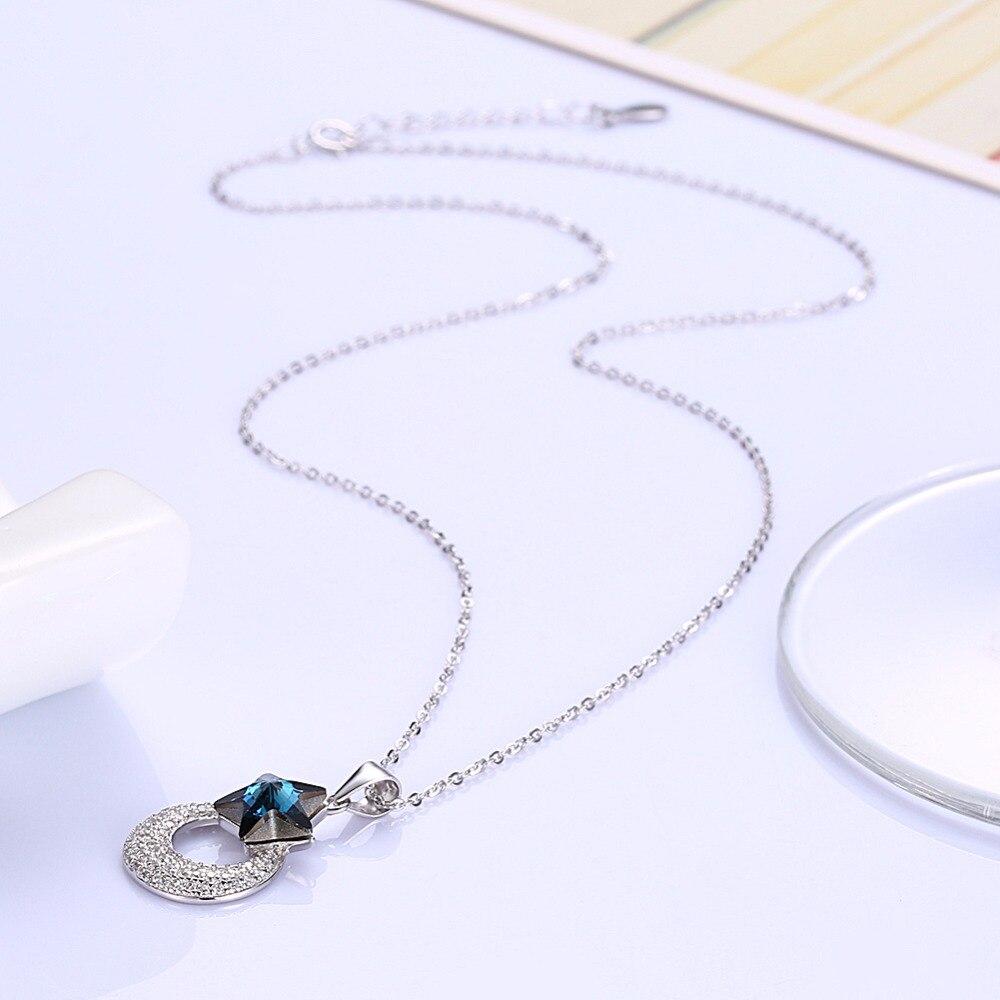 Luna ana corazón colgantes collares hechos con cristal de Swarovski - Joyas - foto 4