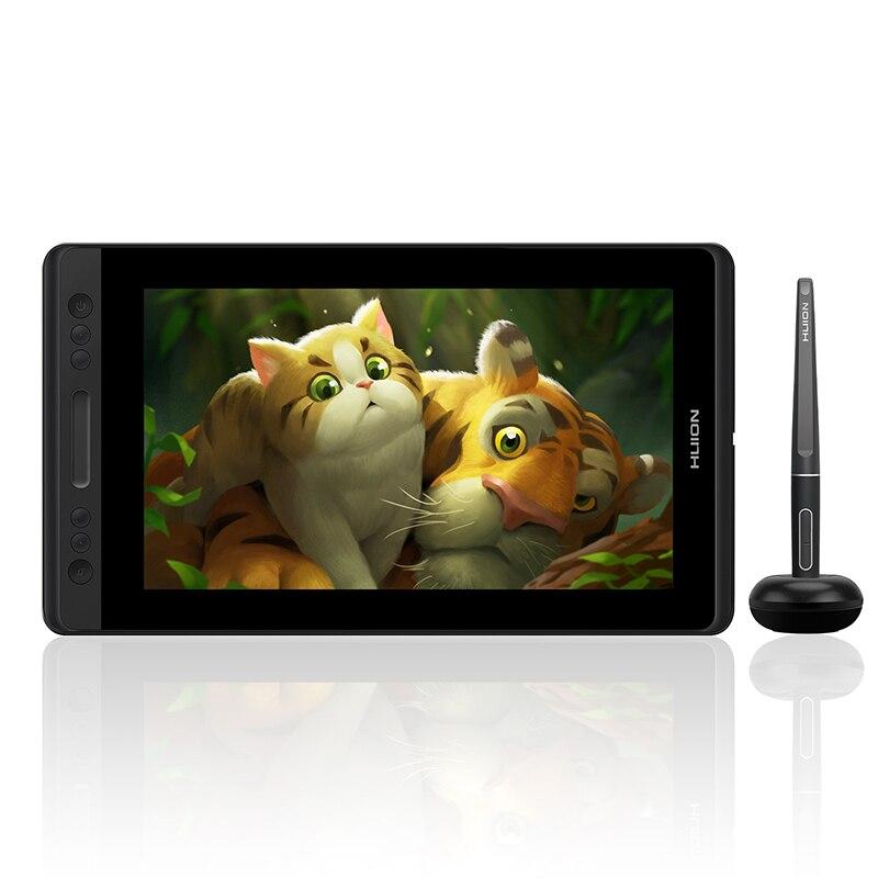 HUION Kamvas Pro 13 GT-133 наклона Поддержка Батарея-Бесплатная Pen графический планшет для рисования Дисплей монитор с экспресс-клавиш и touch Bar
