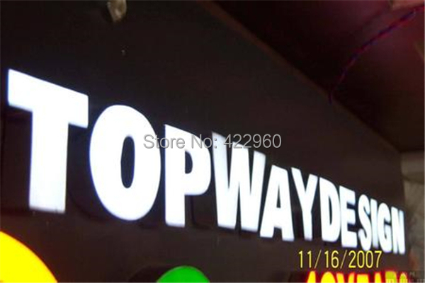 Factoy Outlet High Brightness Outdoor Illuminated Acrylic Led Sign For Advertisement