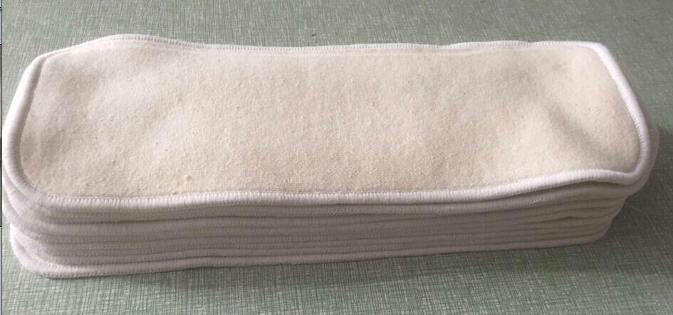 Горячая Распродажа 3 слоя конопляного органического хлопковый подгузник вставки для детей и взрослых 24 шт Сменные колодки