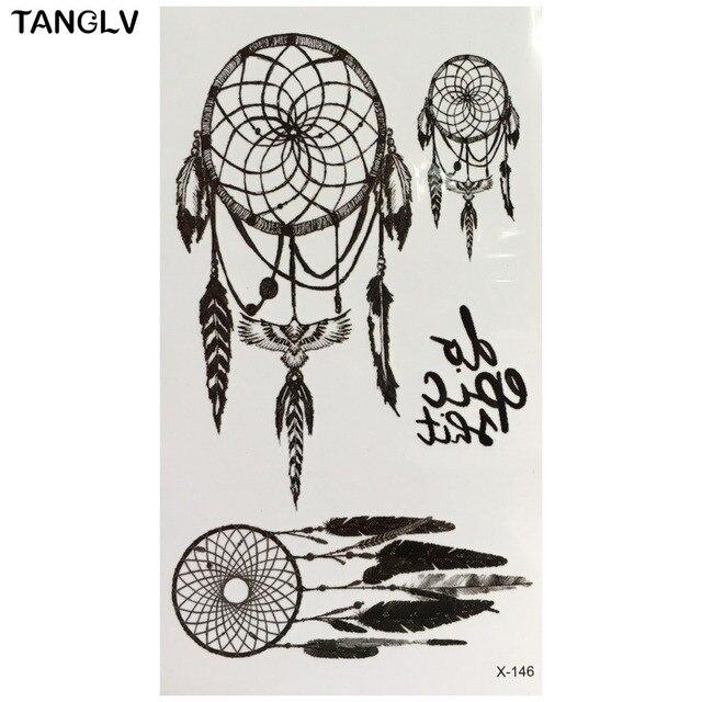 Dreamcatcher Chaude Grand Soleil Indien Fleur Tatouage Temporaire Au