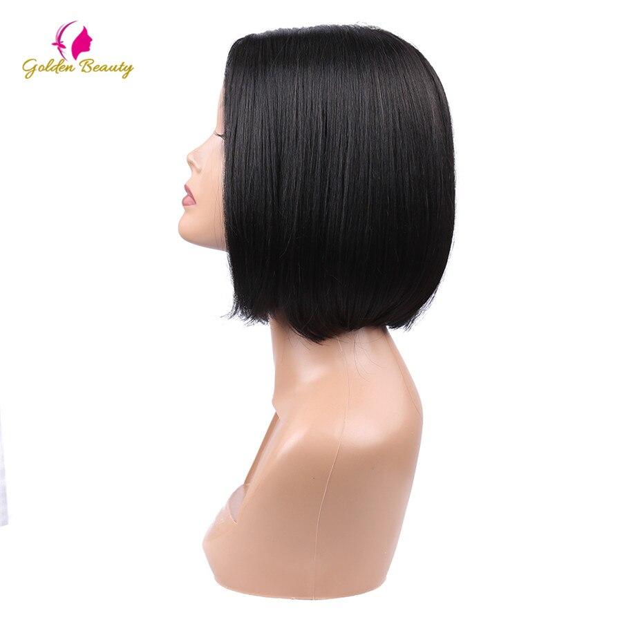 Golden Beauty 8inch Bob Cut Wig Kort Syntetisk Snörning Frontparykar - Syntetiskt hår - Foto 3
