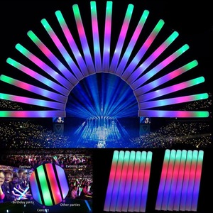 Image 2 - 30 Pçs/lote Colorido Espuma da Vara Do Casamento Partido LIDERADO Brilho Fluorescente Rali Varinhas de Ânimo Baton Brilho Light Up Vara Do Fulgor Rave Festival