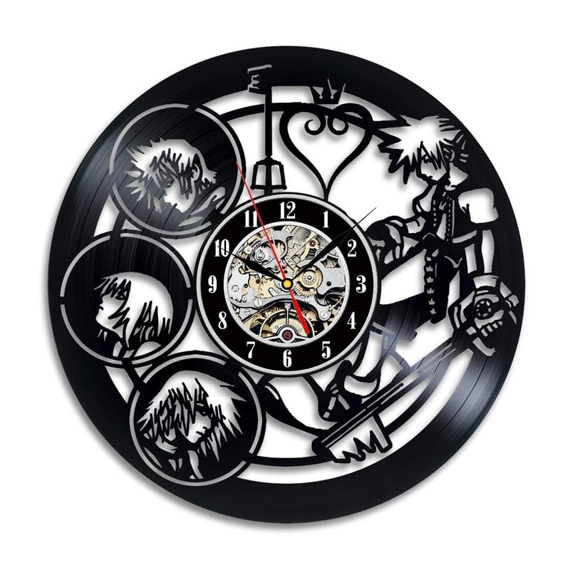 2019 Clock Wall Kingdom Hearts Wall Clock Modern Design Decorative Kids Room Vinyl Record Watch Home Decor Gifts For Children