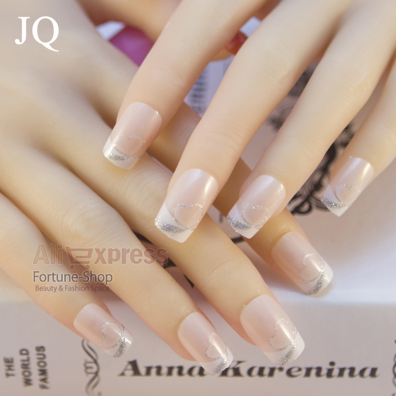 TKGOES 20pcs/set Fake Nails False Acrylic Nail Tips Plastic Long ...