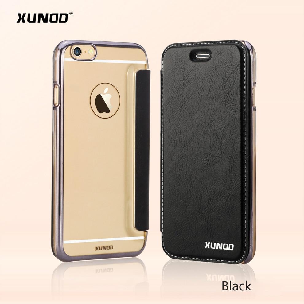 Цена за Xundd Марка Роскошные откидная крышка для iPhone 6 6 плюс защитный чехол для iPhone 6S 6S плюс телефон чехол с Разъем карты Бесплатная доставка