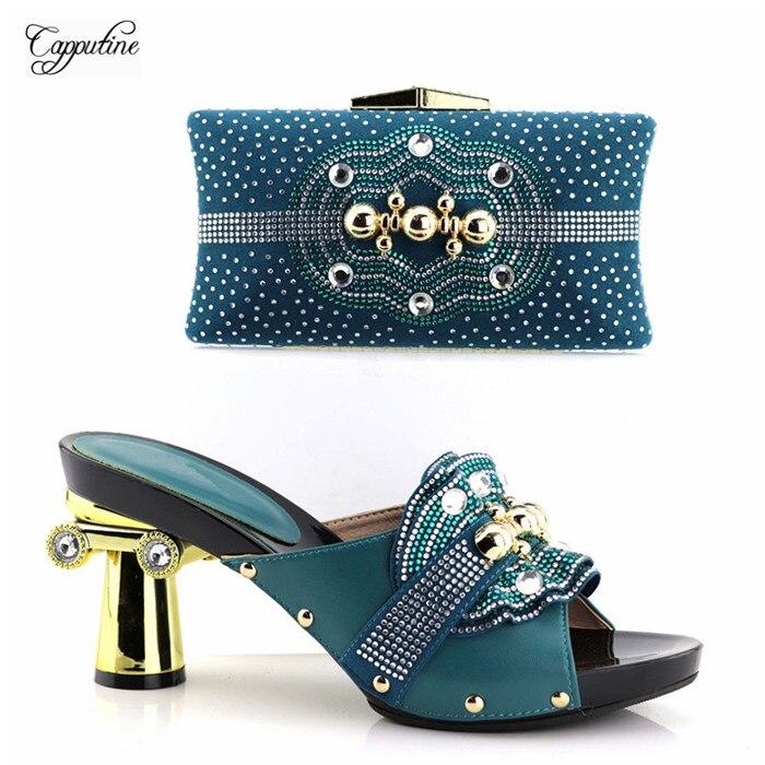 Excelletn Вечерние обувь и вечерняя сумочка комплект со стразами идеальное совпадение для вечернее платье YH2018-01