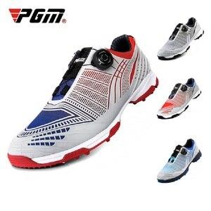 2020 Pgm обувь для гольфа мужская обувь с автоматической пряжкой уличные водонепроницаемые противоскользящие кроссовки Нескользящие шипы спо...