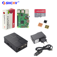 UK Raspberry Pi 3 Kit 16G SD Card ABS Case 2 5A Power Adapter USB Switch
