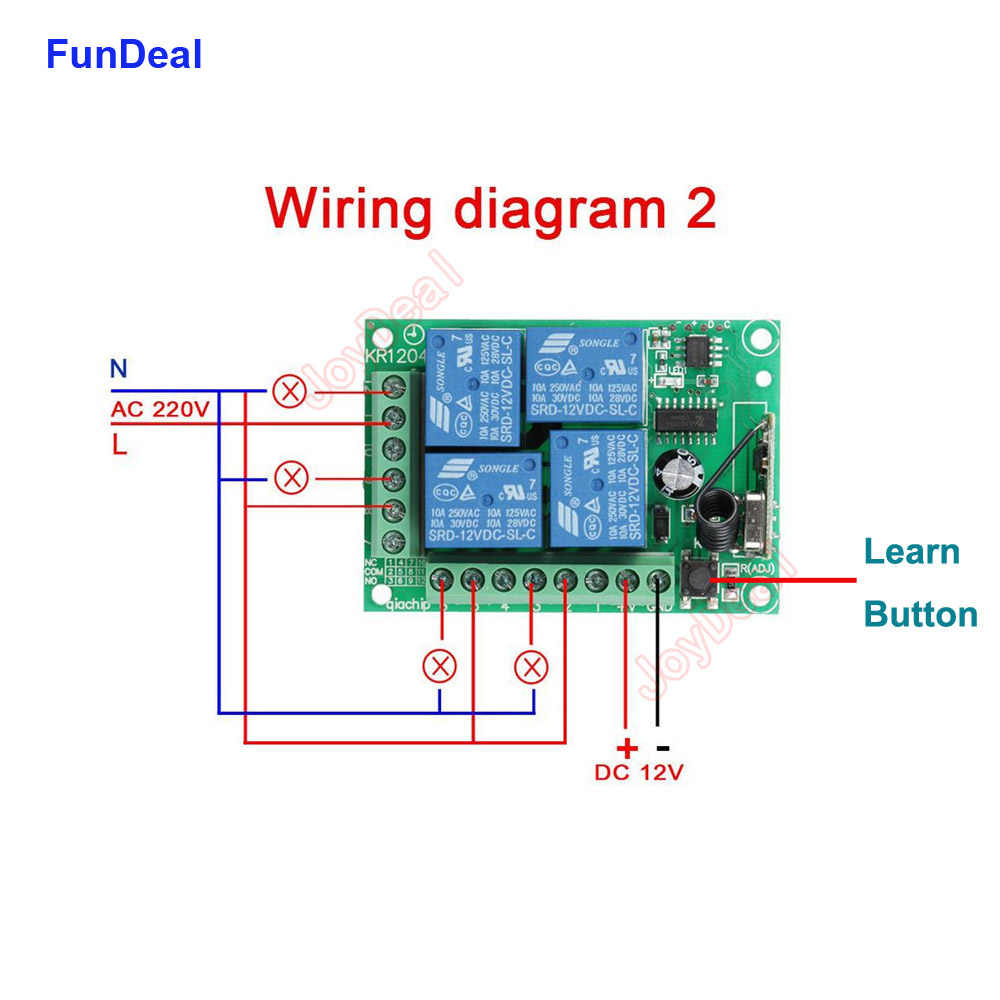 [DIAGRAM_3ER]  433Mhz Universal Wireless Remote Control Switch DC 12V 4CH Relay Receiver  With 4 Channel 433 MHz Transmitter RF Remote Controls| | - AliExpress | Remote Control 12v Dc Switch Wiring Diagram |  | www.aliexpress.com