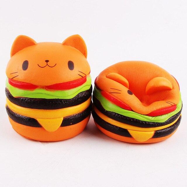 Squishy Burger Mirror : Aliexpress.com : Buy Jumbo Kawaii cat hamburger Squishy charms Squishy burger Slow Rising ...