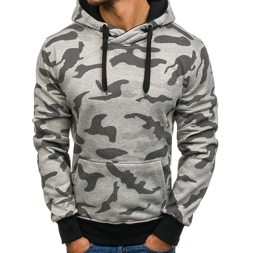 Men Hoodie Sweatshirt Camouflage Brand Solid Color Tracksuit Sudaderas Hombre Hip Hop Male Hooded Sportswear Clothing For Men
