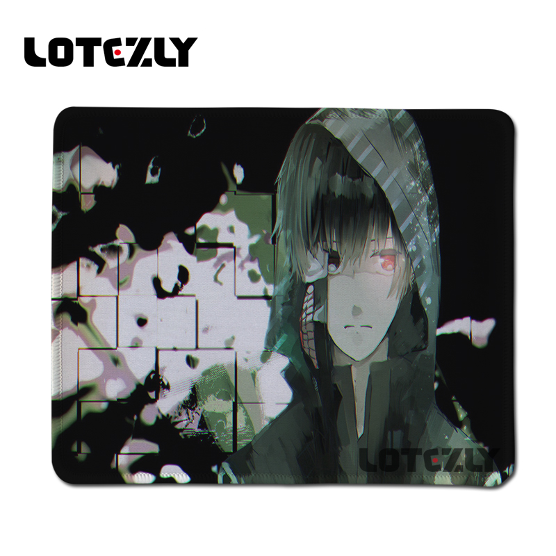 Hot Anime Tokyo Ghoul Gaming Mouse Pad Black Rubber Overlock Mousemat PC Computer Notebook Mousepad Gamer Mice Play Mats