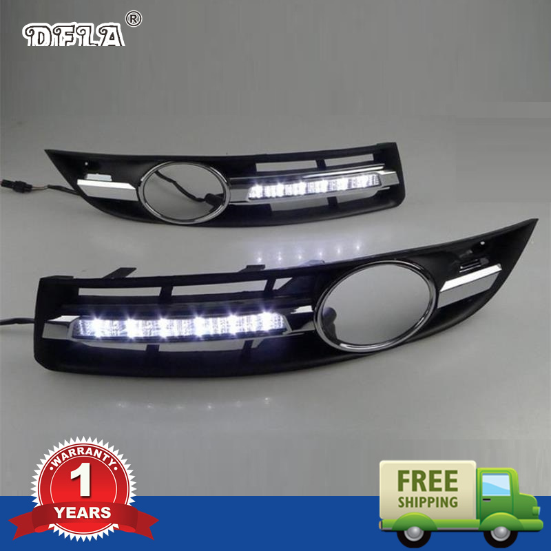 Car LED Light For VW Passat B6 2006 2007 2008 2009 2010 2011 Car styling LED DRL Daytime Running Light Waterproof With Harness