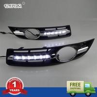 Coche de Luz LED Para VW Passat B6 2006 2007 2008 2009 2010 2011 Car-styling LED DRL Daytime Running Light Impermeable Con Arnés