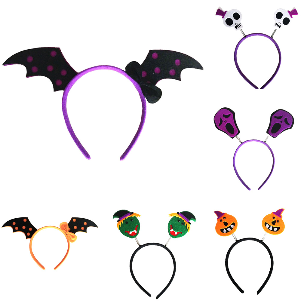 1 Pcs Cute Halloween Hairbands Head band Pumpkin witch Skull Headress Xmas Party Decorations Wholesale halloween butterfly wings head band wand white 3 piece set