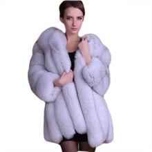SexeMara Осень Зима длинный толстый ветрозащитный пушистый куртка из искусственного меха наряд высокое качество версия плюс размер