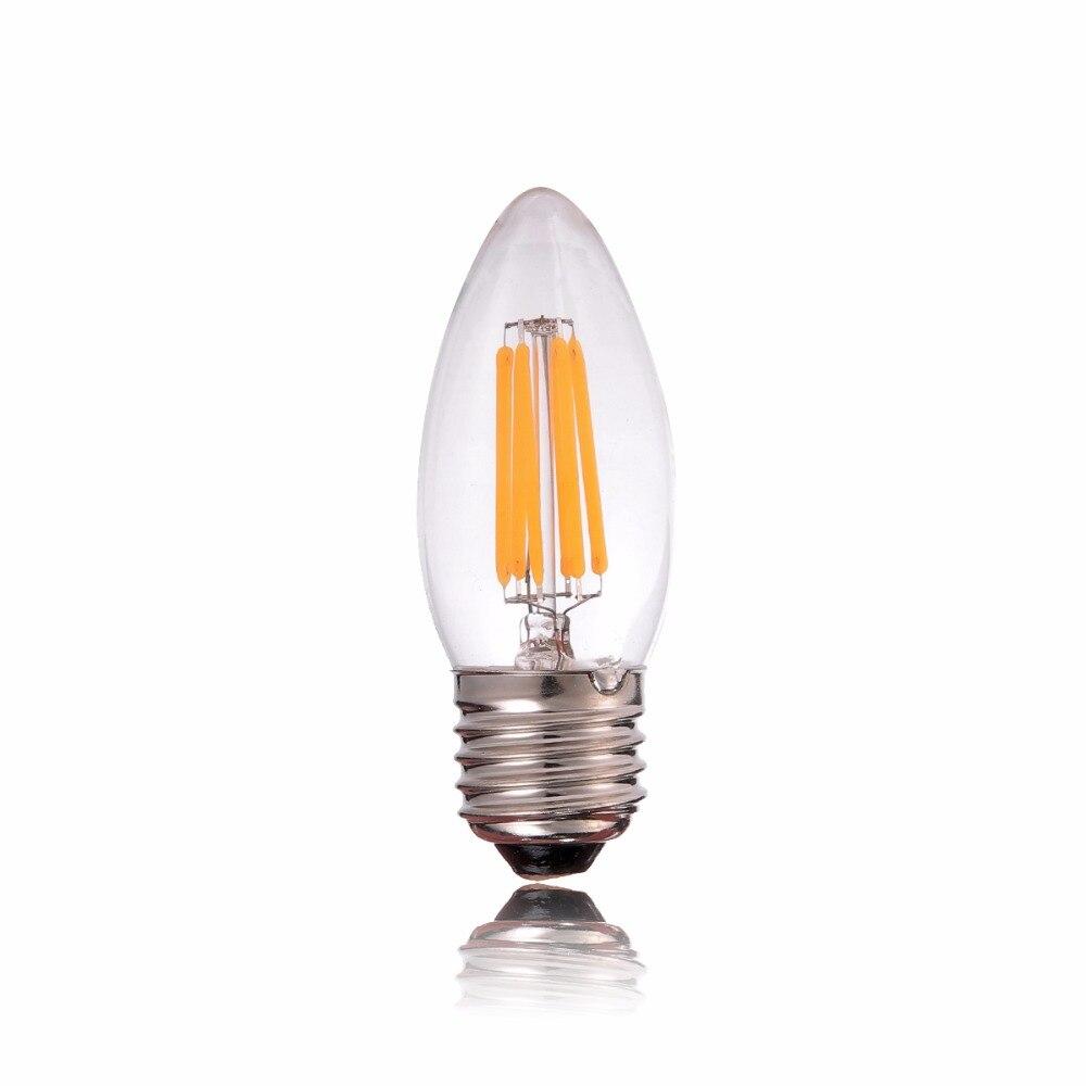 E26 Базы, 6 Вт 100 В Затемнения, ПРИВЕЛО Старинные Лампы Накаливания, C35 Свечи Стиль, Теплый Белый, для Японии