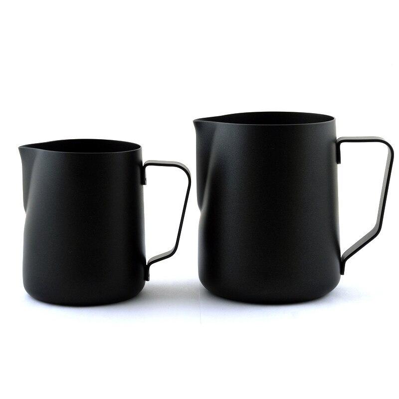 Capa antiadherente negro taza de café taza jarra de acero inoxidable leche espresso Coffee frothing jarro taza 350 ml/600 ml