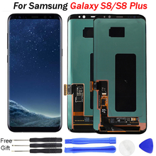 S8 G955 LCD For SAMSUNG S8 LCD G950 G950F Replacement for SAMSUNG Galaxy S8 Plus LCD G955 LCD Digitizer Touch Screen Assembly brand new original 100% working s8 lcd screen for samsung s8 s8 plus lcd display with touch screen digitizer assembly phone part