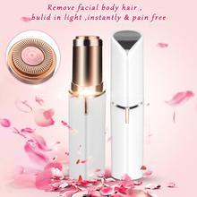 ФОТО electric painless lipstick shape epilator shaving shaver lady hair remover mini female hair removal razor women face ear care