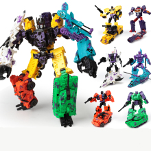 лучшая цена Lensple Transformation 6 In 1 KO New Desigh Bruticus And Shockwave Collection Robots Action Figure Toys