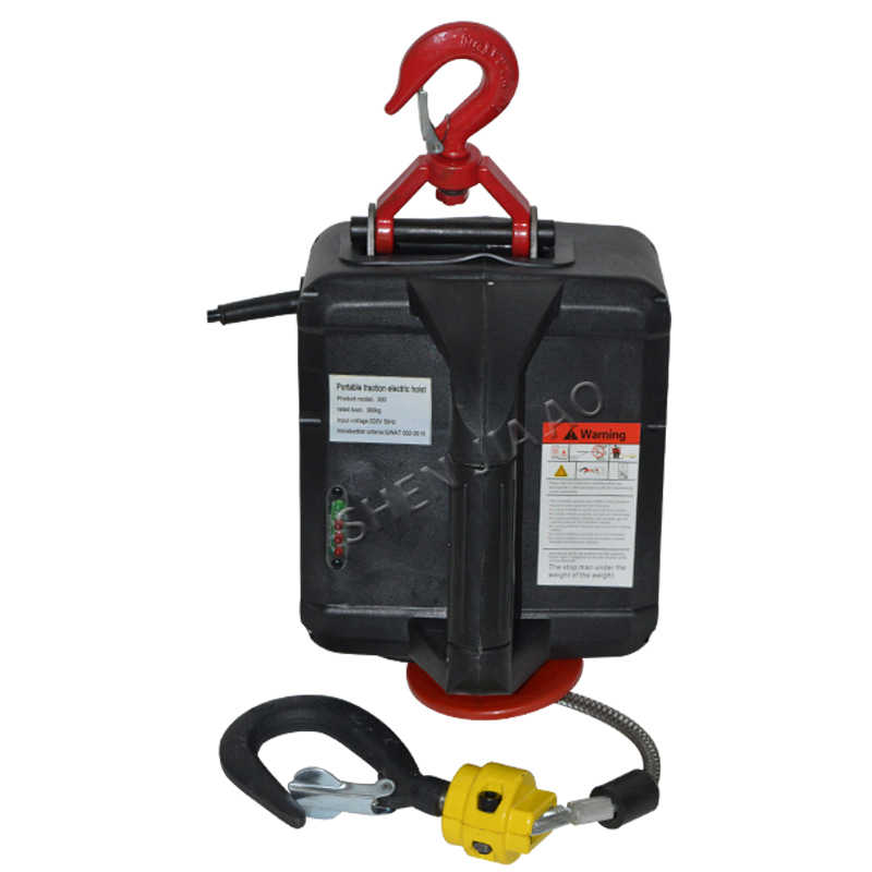 Portable electric hoist traction hoist household hand section of small  crane hanging winch machine 220V 1500W