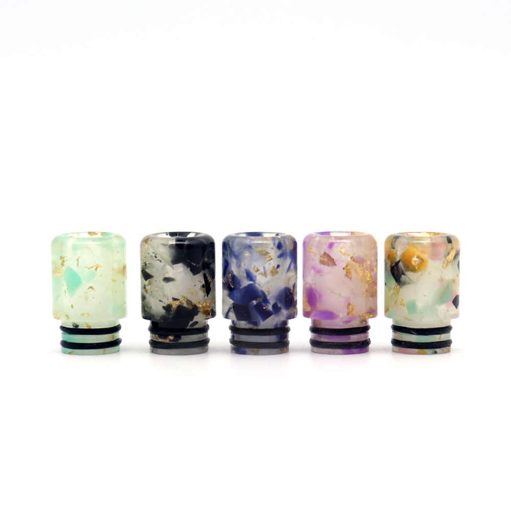 510 Universal Luminous Resin Drip Tip for Smok Trinity Alpha/Ijust S/TFV8 Baby/TFV12 BABY PRINCE/stick M17(China)