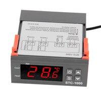 4 6 9 Display Temperature Controller 1 M Cable Thermostat Aquarium STC1000 Incubator Cold Chain Temp