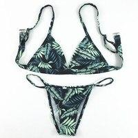 2017 Sexy Women Swimsuit Micro Bikini Set Bathing Suits With Halter Strap Swimwear Brazilian Bottom Monokini