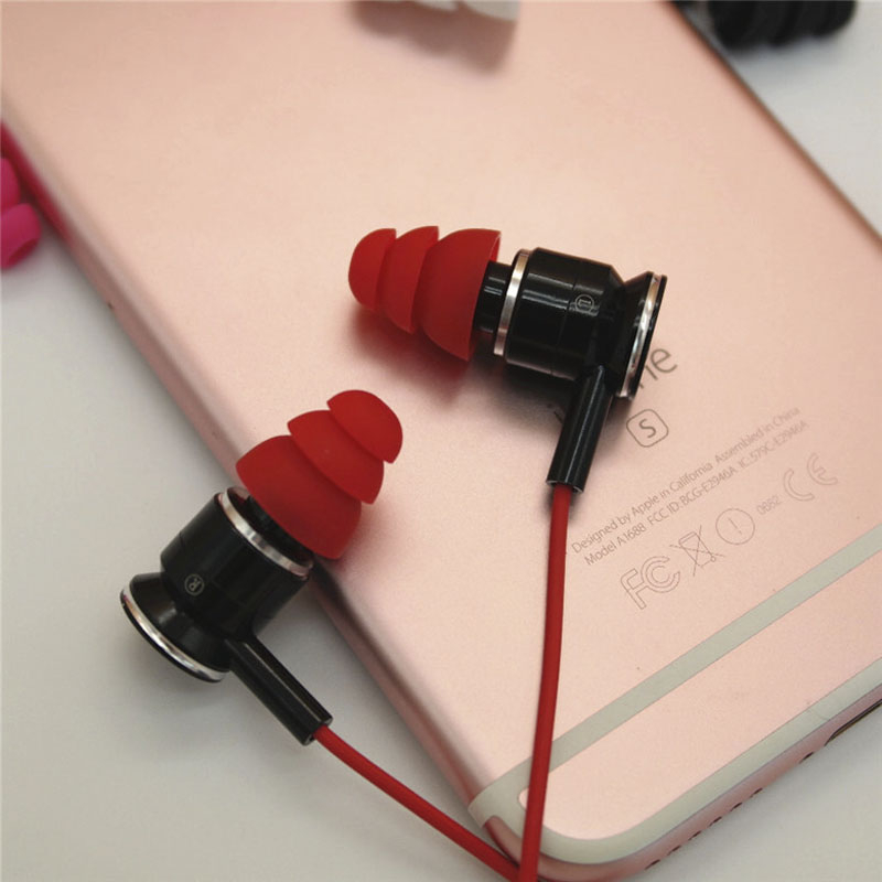 Image 5 - 12 PCS/3 Pairs Silicone In Ear Earphone Covers Cap Replacement Earbud Bud Tips Earbuds Headphone Ear tips Three Layer Ear tips-in Earphone Accessories from Consumer Electronics