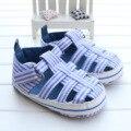 2017 sandálias do bebê verão cuet fundo macio não-deslizamento da criança do bebê primeiro walkers shoes para meninos