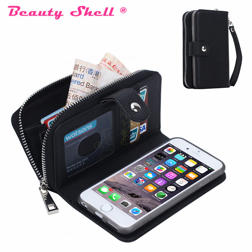 Iphone 5 Cases Wallet Zipper