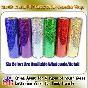 50cmx100cm One Yard PET Laser Heat Transfer Vinyl Film Cutting Plotter for Textile Press