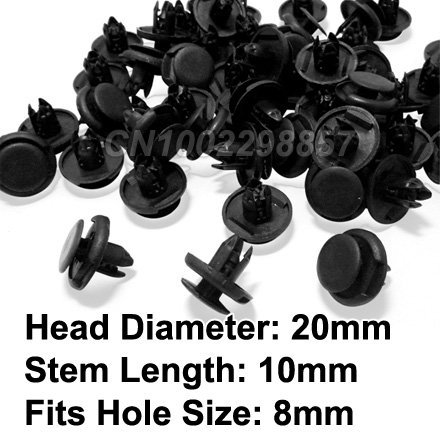 FREE SHIPPING 100 Pcs Fender Liner Clip Retainer Fastener FIT FOR Honda & Acura Accord Civic CRV Odyssey Integra TL RL MDX RSX
