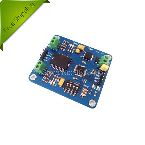 Free Shipping! L298 I2C Motor Driver can power two brushed DC motors ...