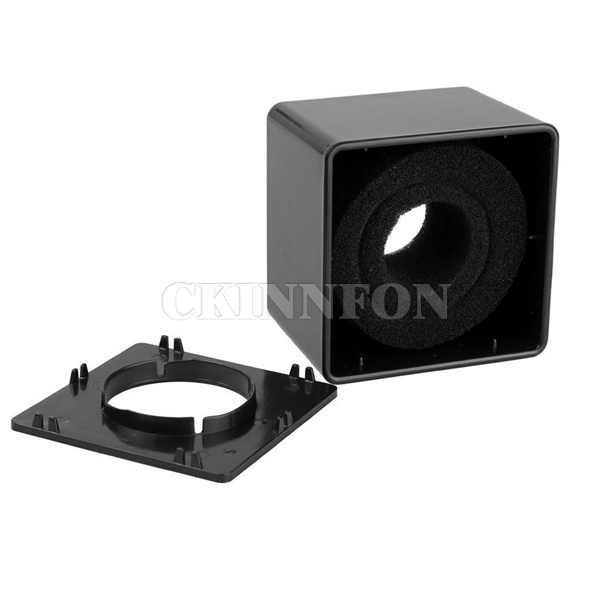 DHL 100pcs 40mm Hole TV crew interview Microphone Square Shaped Logo Flag Station ABS material