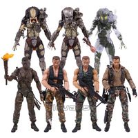 NECA PREDATOR 30th Anniversary Jungle Patrol Encounter Extraction Disguise Dutch Jungle Hunter Unmasked Demon Action Figure 18cm