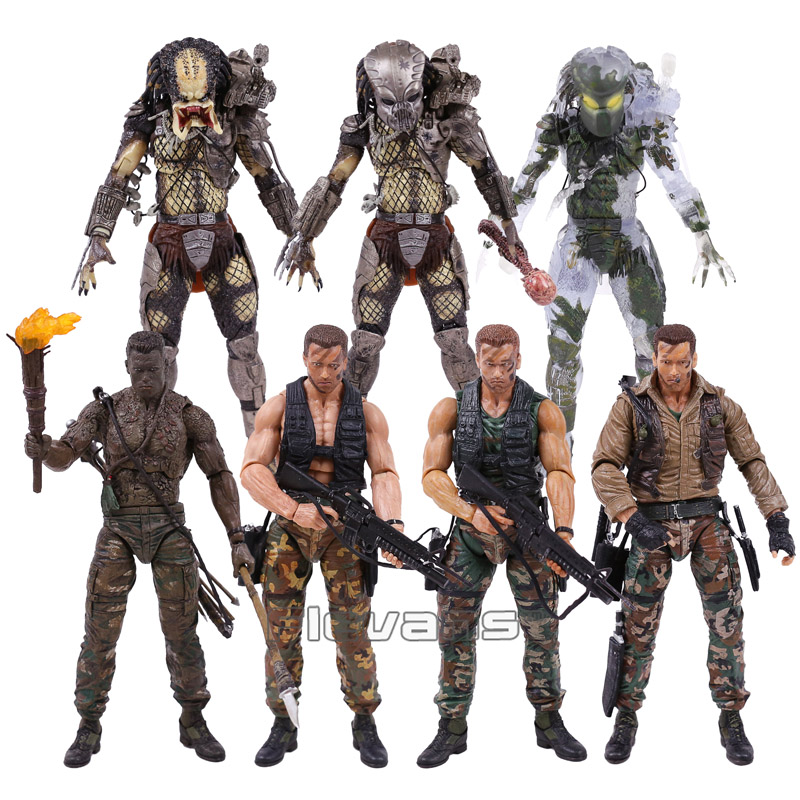 NECA PREDATOR 30th Anniversary Jungle Patrol Incontro Estrazione Disguise Olandese Jungle Hunter Unmasked Demone Action Figure 18 cmNECA PREDATOR 30th Anniversary Jungle Patrol Incontro Estrazione Disguise Olandese Jungle Hunter Unmasked Demone Action Figure 18 cm