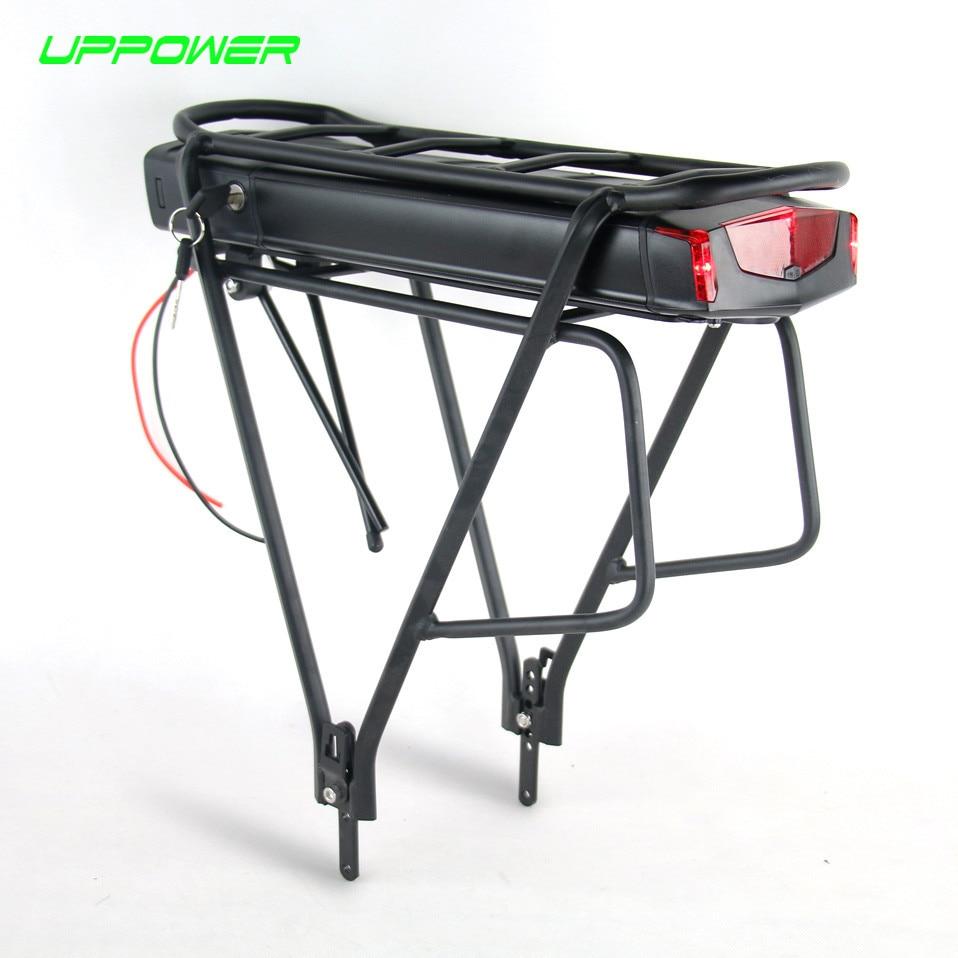 США ЕС нет налога Электрический велосипед 36 В 10Ah 13Ah сзади стойки Батарея для Bafang BBS01 BBS02 eBike Батарея + двойной Слои Чемодан стойки
