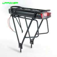 Electric bike 36V 10Ah 13Ah ebike ithium Battery for tsdz Bafang electric bicycle kit Battery with Double Layer Luggage Rack