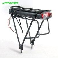US EU No Tax Electric Bicycle 36V 10Ah 13Ah Rear Rack Battery For Bafang BBS01 BBS02