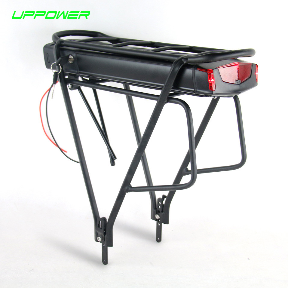 US EU No Tax Electric Bicycle 36V 10Ah 13Ah Rear Rack Battery for Bafang BBS01 BBS02 eBike Battery + Double Layer Luggage Rack us eu no tax sanyo cells 48v 14ah rear rack ebike battery with 2a charger for 48v bafang hub motor 750w 8fun bbs02 mid motor