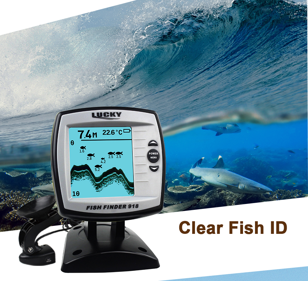 fish finder ff9180-180s findfish wired echo sounders for boat bait fishing finders deeper waterproof lucky fishfinder alarm fish